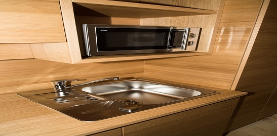 Kühlschrank + Mikrowelle